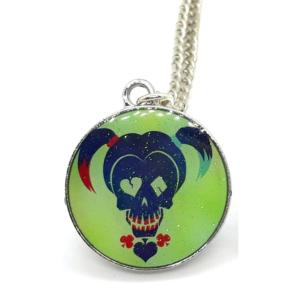 DC Comics: Harley Quinn Skull Pendant Necklace