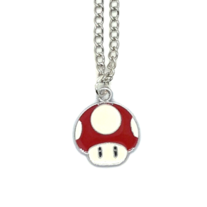 Super Mario Bros: Red Mushroom Pendant Necklace