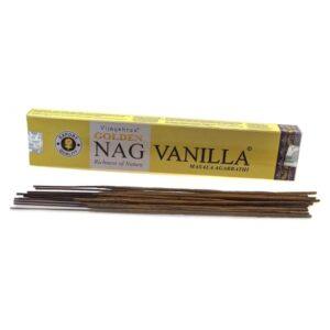 Vijayshree Golden Nag Vanilla Incense Box (15 Sticks)